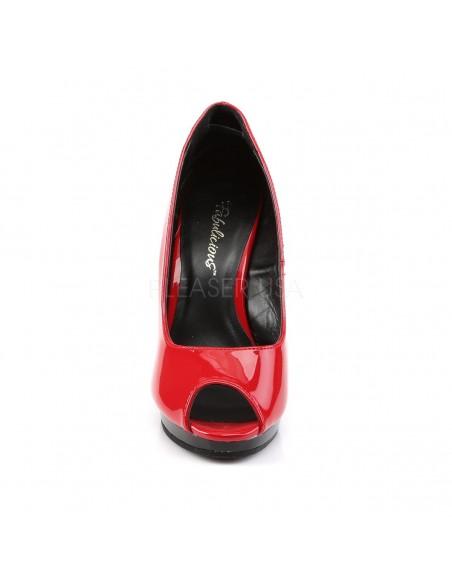 Zapatos Pleaser plataforma baja de estilo Peeptoe puntera abierta