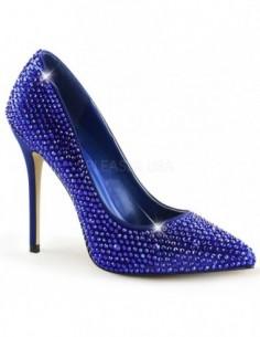 Zapatos Clásicos recubiertos de strass con punta fina y tacón de aguja