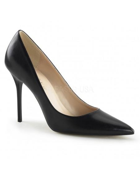 Zapatos elegantes en simil piel con tacón de aguja