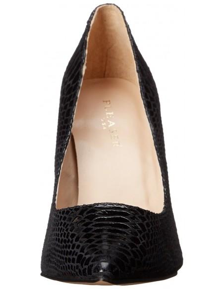 Zapatos elegantes en piel imitando a piel de serpiente