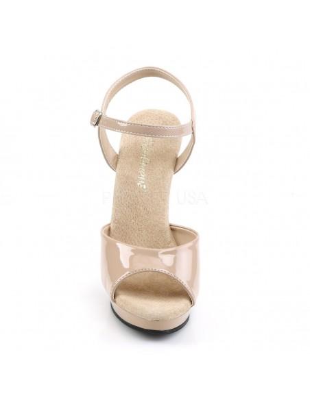Sandalia abierta de plataforma baja con correa al tobillo
