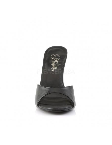 Zuecos elegantes tacón aguja Classique-01 de polipiel tallas 35 a 48