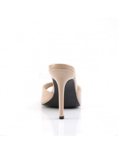 Zuecos elegantes tacón aguja Classique-01 en charol de talla 35 a 48