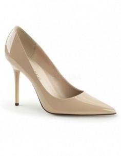 Zapatos de salón Classique-20 charol y tacón de aguja talla 35 a 48