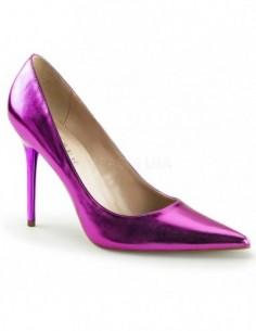 Zapatos elegantes Classique-20 de salón y tacón de aguja talla 35 a 48