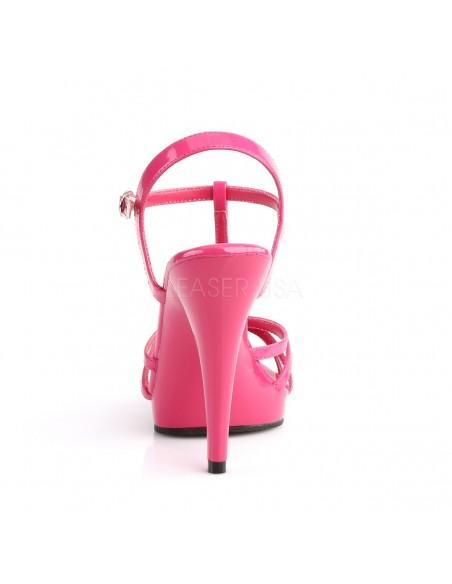 Sandalias de plataforma Pleaser Flair-420 con bandas cruzadas