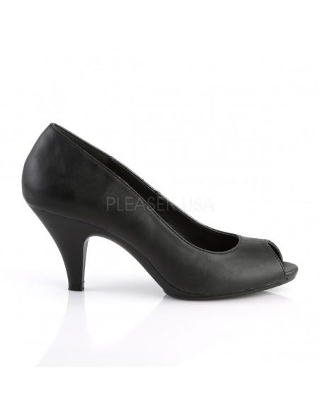 Zapatos diseño clásico de polipiel estilo Peep Toe desde talla 35 a 48