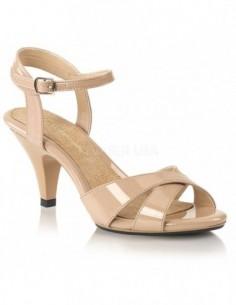 Sandalias de charol brillante Pleaser con tiras cruzadas desde 35 a 48