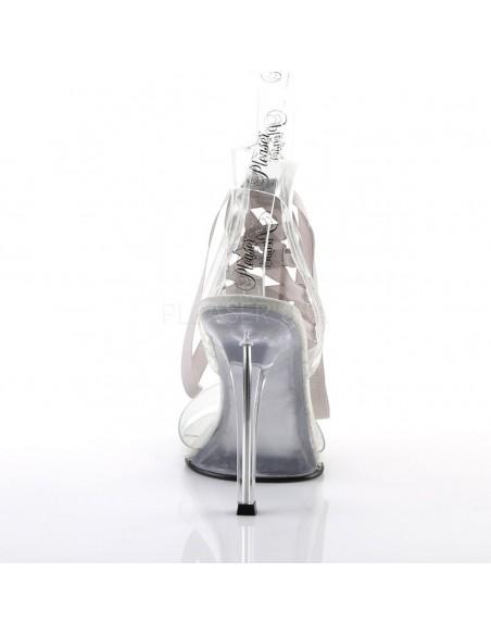 Sandalias efecto cristal con caña alta y cinta de colores intercambiables