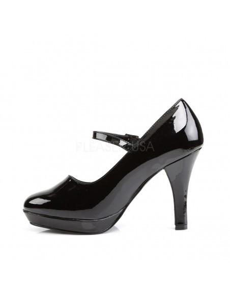 Zapato plataforma hebilla extraancho