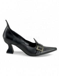 Zapato bruja tacon bajo hebilla