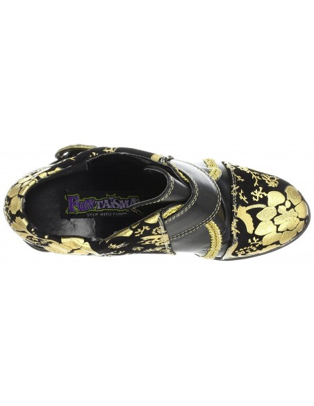 Zapato plataforma hebilla floreado