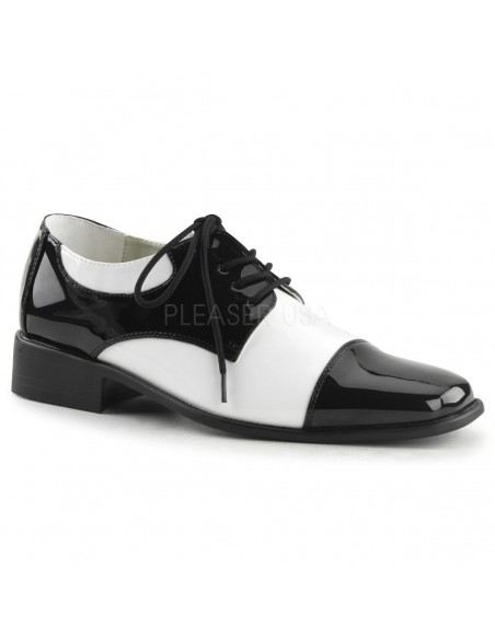 Zapato bicolor retro cordones