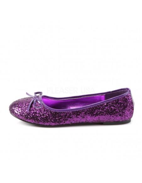 Bailarina purpurina con la barquilla clásica