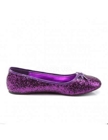 Bailarina purpurina de barquilla clásica