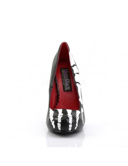 Zapato disfraz esqueleto