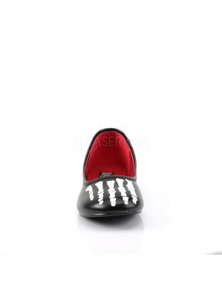 Zapato bajo estilo bailarina para disfraz de esqueleto