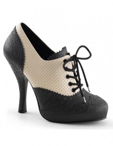 Precioso zapato Pinup de estilo Oxford en dos tonos acordonados