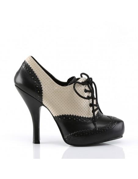 Precioso zapato Pinup de charol de linea vintage en dos tonos