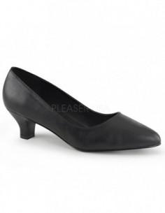 Zapato de barquilla clasica de ancho especial en cuero sintético
