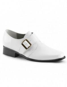 Zapatos para hombre en charol brillante con hebilla