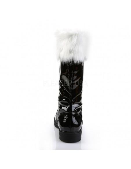 Botas para hombre de disfraz navidad santa claus con pelo desmontable