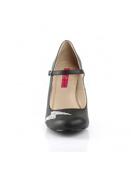 Zapatos tallas grandes 40 a 48 estilo Mary Jane de polipiel y purpurina