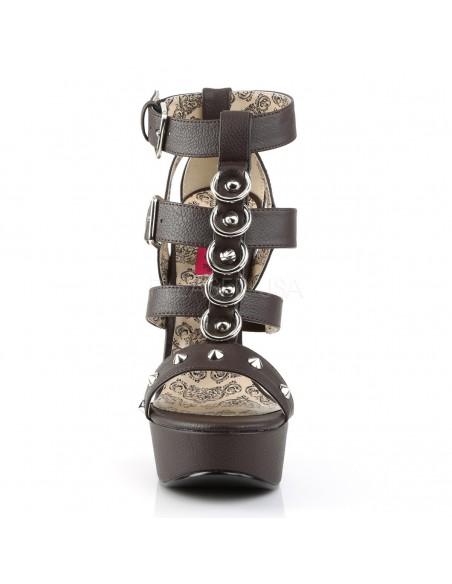 Sandalias Teeze de plataforma con correas y argollas en tallas grandes