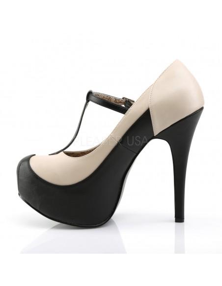 Zapatos Teeze de plataforma en tallas grandes en dos tonos con correa