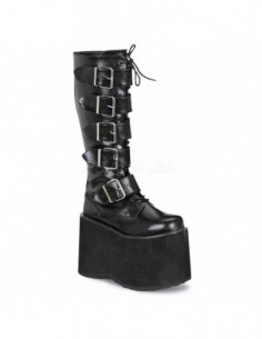 Bota plataforma hebillas monster