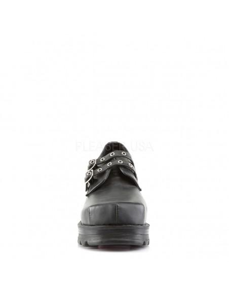 Zapatos de plataforma con doble hebilla
