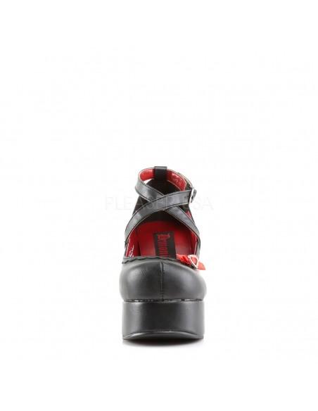 Zapatos de plataforma con lazos y hebilla