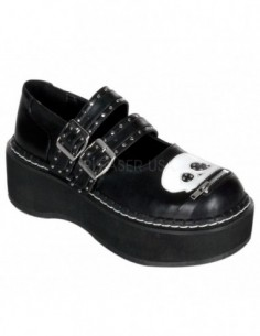 Zapato Gotico de Plataforma Hebilla Calavera