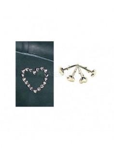 Repuestos de Clavos Metálicos con Forma de Corazón para Botas 60 Unid.