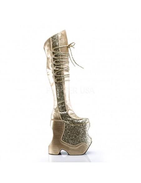 Botas Drag Queen y espectáculo con 23 cm de plataforma