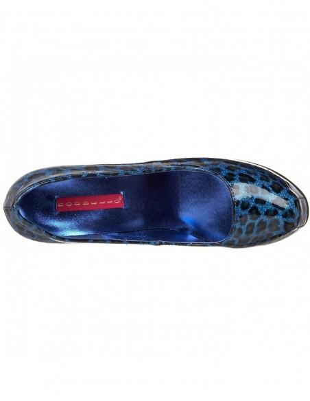 Zapatos Bordello estampado leopardo metálico