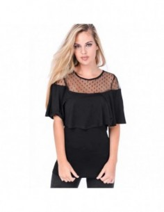 OVG Woman's Top Geo Black