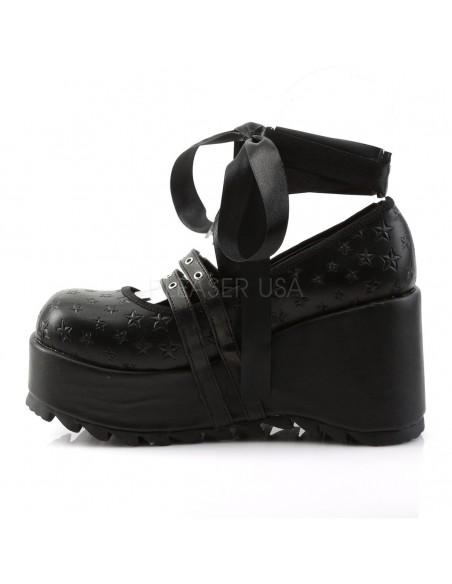 Zapatos Góticos Demonia con plataforma y cinta para atar al tobillo