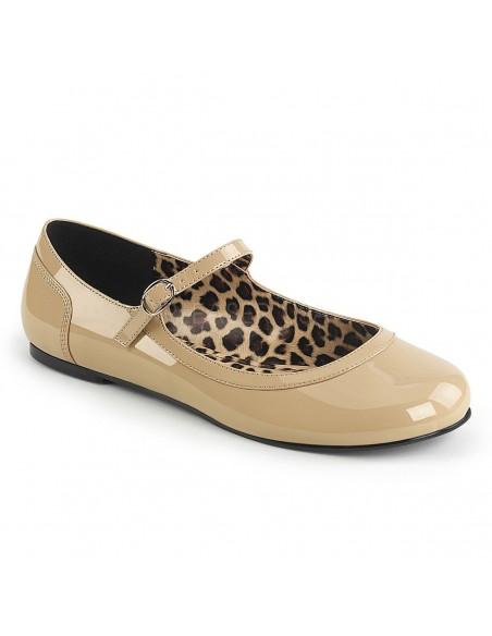 Merceditas zapatos bajos de charol con correa tallas grandes 40 a 48