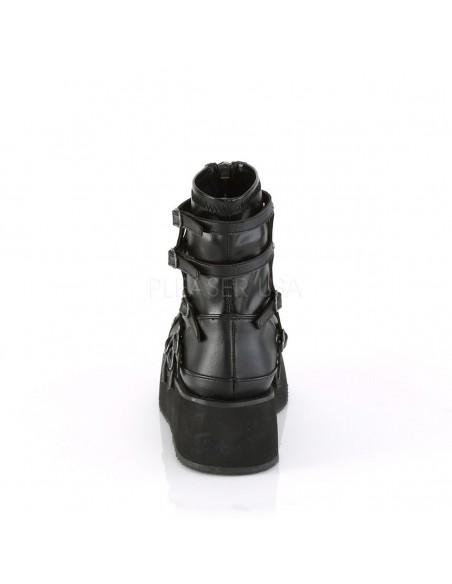 Botines plataforma SPRITE-100 cuero vegano y diseño forma tela de araña