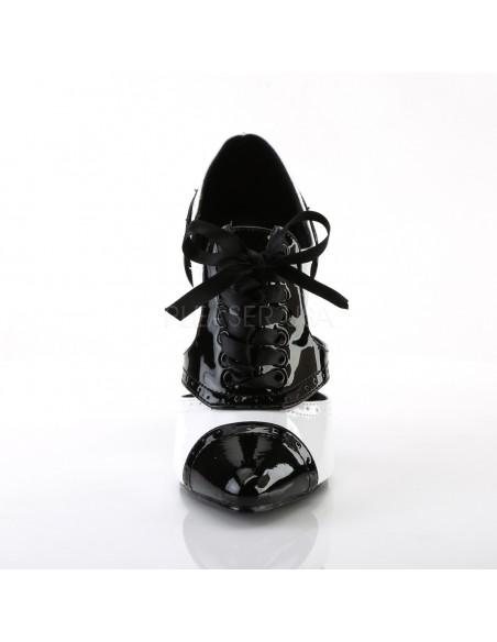 Zapato ganster acordonado tacón aguja
