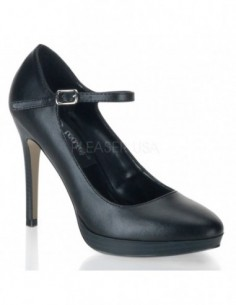 Zapato clasico con plataforma y hebilla