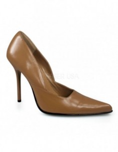 Zapato de Piel Elegante de Barquilla Clasica