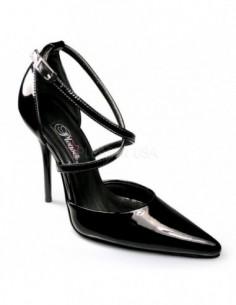 Zapato de tiras cruzadas sobre el empeine