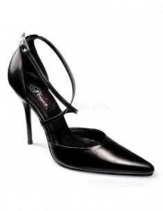 Zapato de piel con tiras cruzadas en empeine