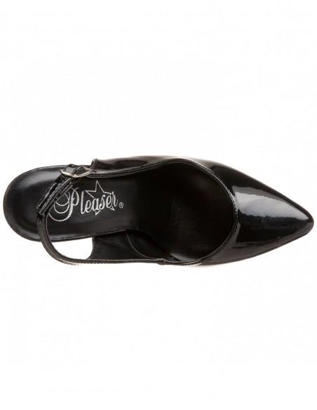 Zapato de talon abierto sujeto al talon