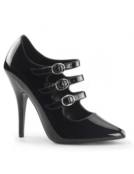 Zapato de barquilla clasica y tiras en empeine
