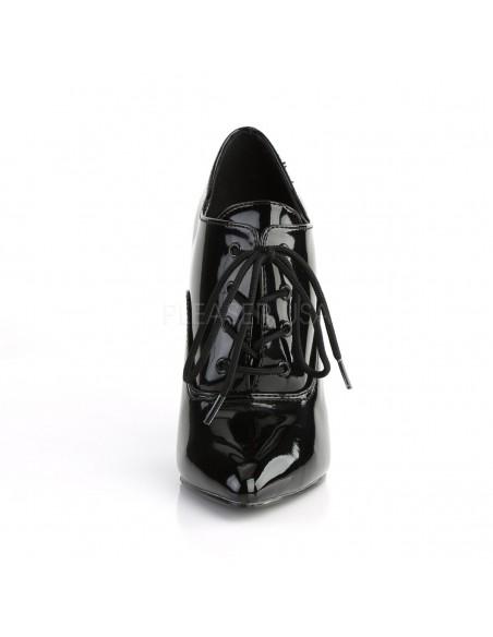 Zapato ganster punta y tacón aguja