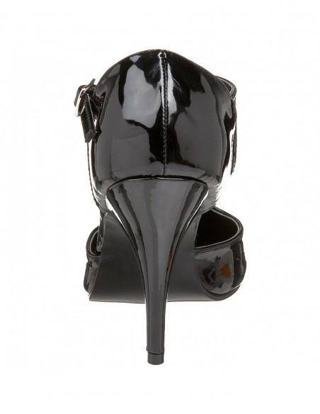 Zapato elegante con tira en tobillo y empeine