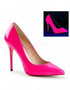Elegantes zapatos de charol brillante con punta fina y tacón de aguja
